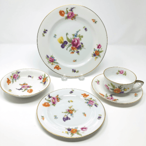 Pirkin Hammer Louise Czech China Plates and Tea Cups