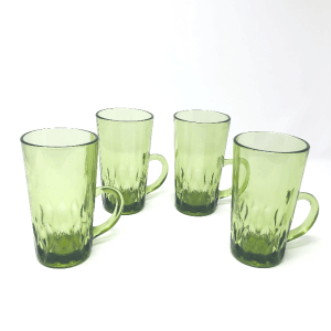 Green Glass Coffee Mugs