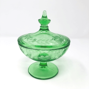 Green Lidded Candy Dish