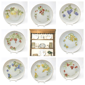 Hand-Painted Fruit Plates