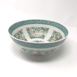 Large Turquoise Chinoiserie Bowl