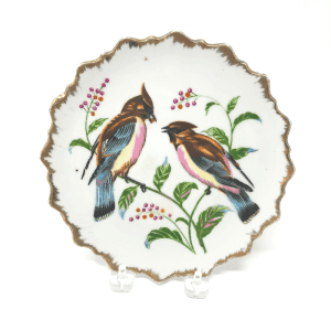 two birds on a plate
