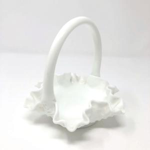 White Ruffles Basket