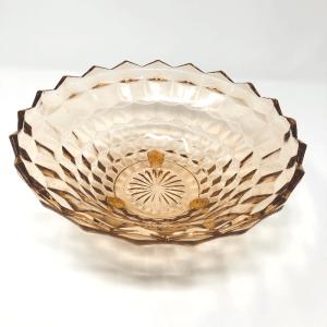 Pale Peach Vintage Glass Bowl