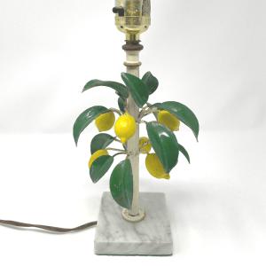 Tole Lemon Lamp