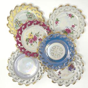 6 Lusterware Plates
