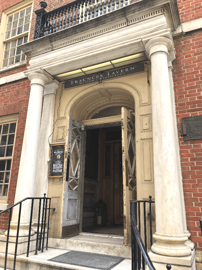 Entrance to the Fraunces Tavern