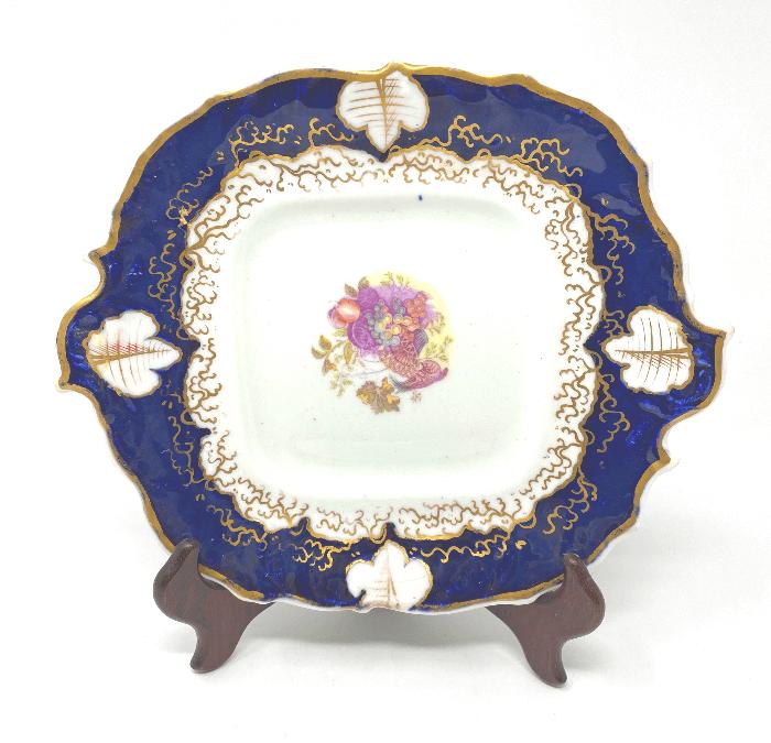 Square Cobalt Decorative Plate