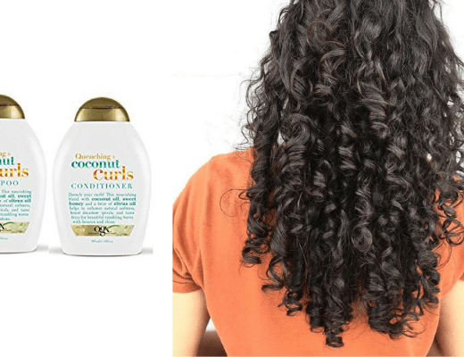 ogX Quenching Coconut Curls shampoo and conditioner
