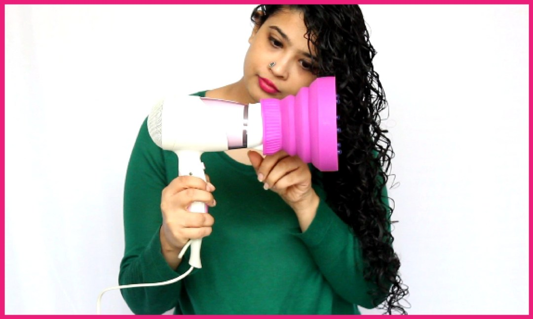How to use diffuser on curly hair step 2