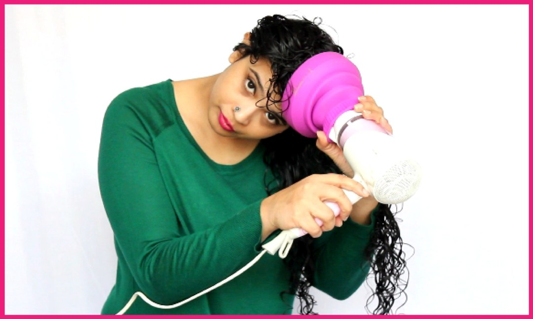How to use diffuser on curly hair step 3