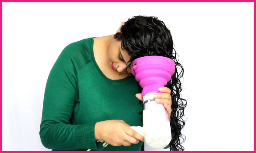 How to use diffuser on curly hair step 4