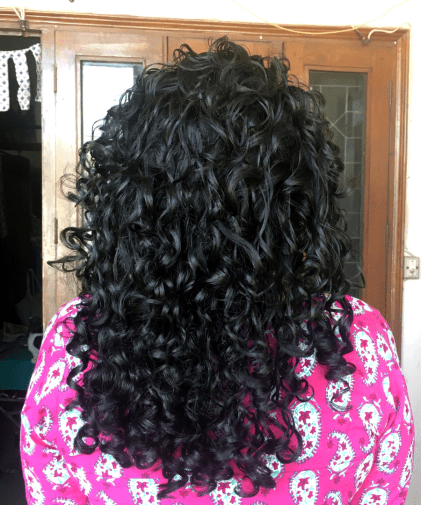 Indian Curly Hair Routine Result