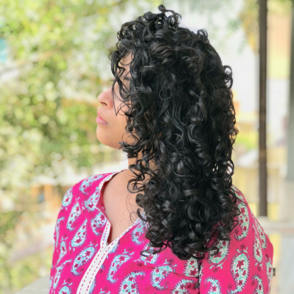 curly hair routine diary