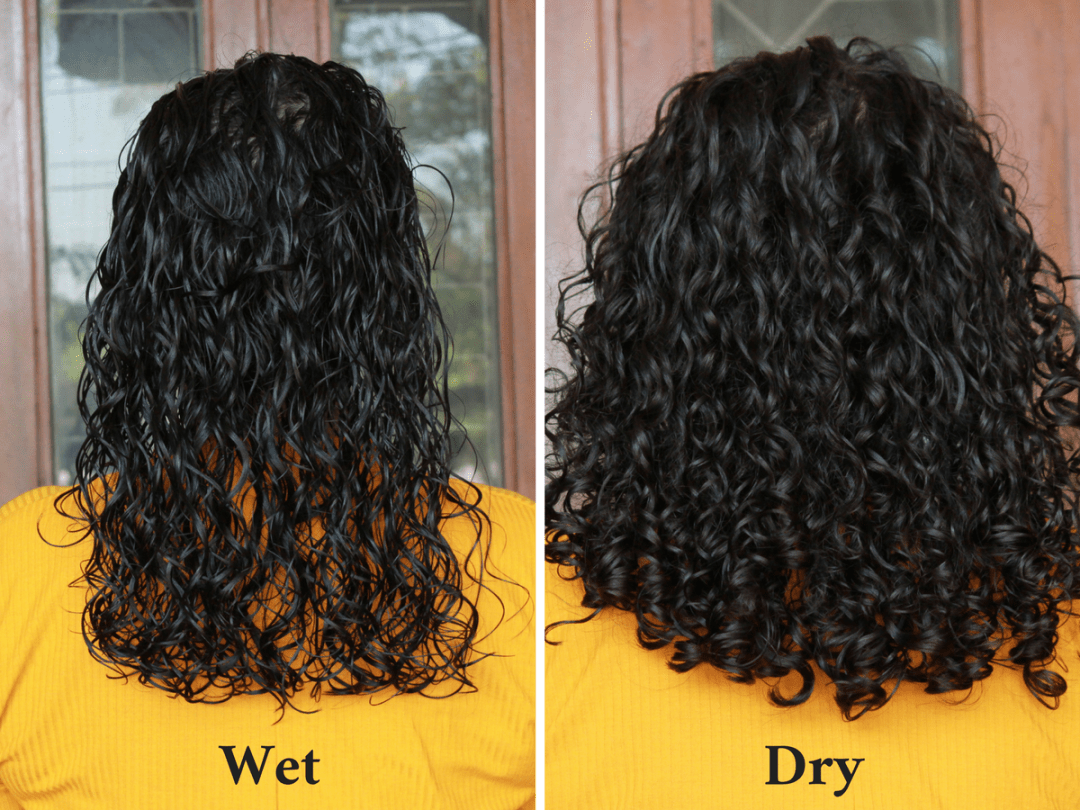Wet curls to dry curls