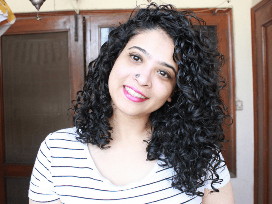 curly hair routine series