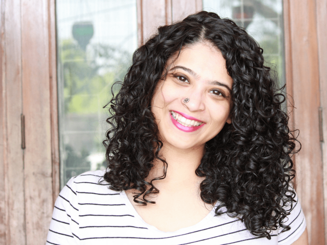 the curious jalebi curly hair routine