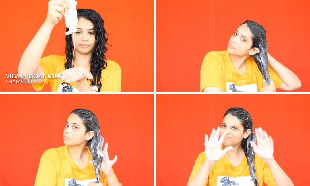 How to apply the shampoo