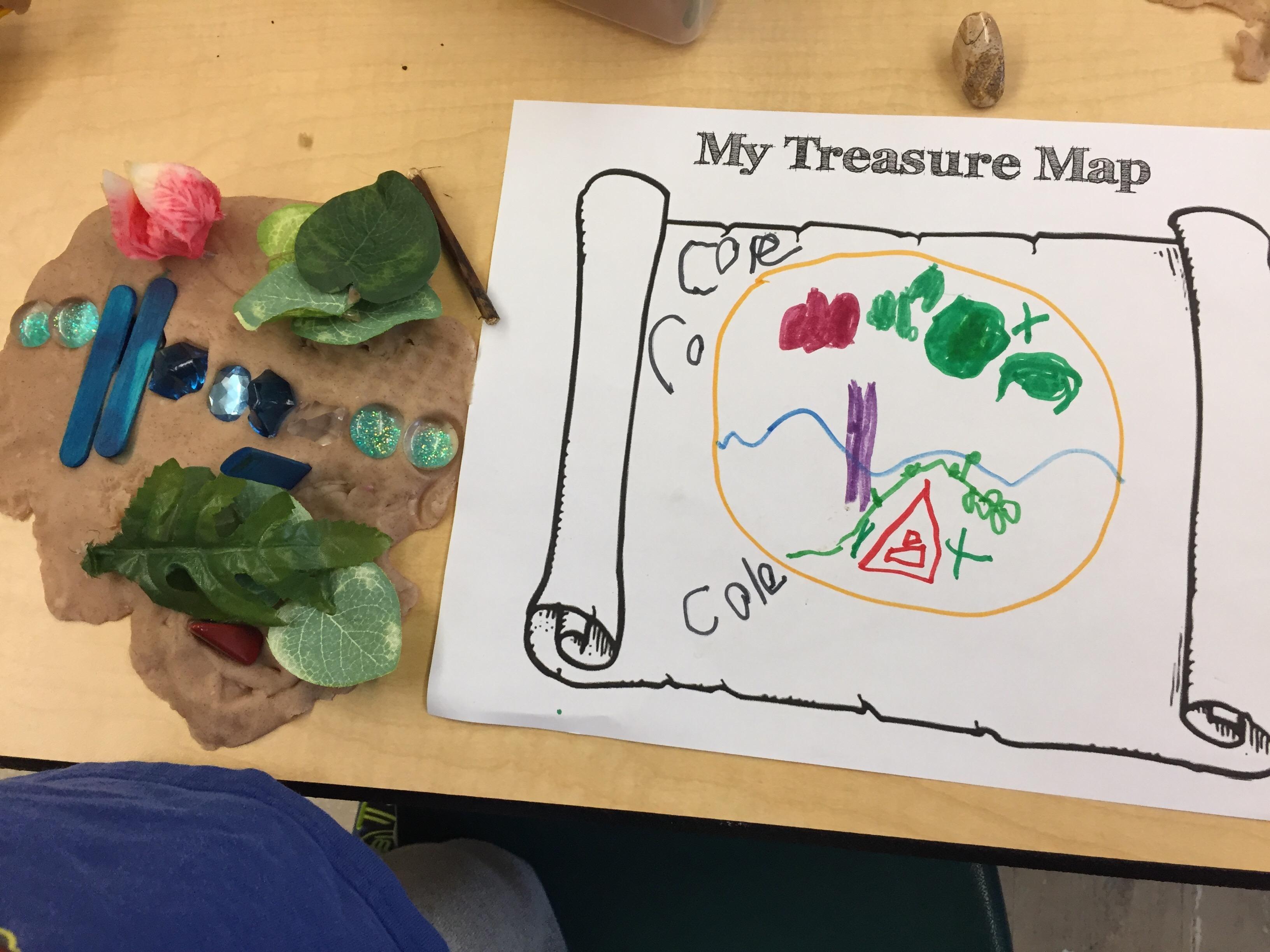 Playdough Provocations Treasure Maps