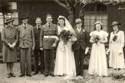 Wedding of John and Kathleen c 1944