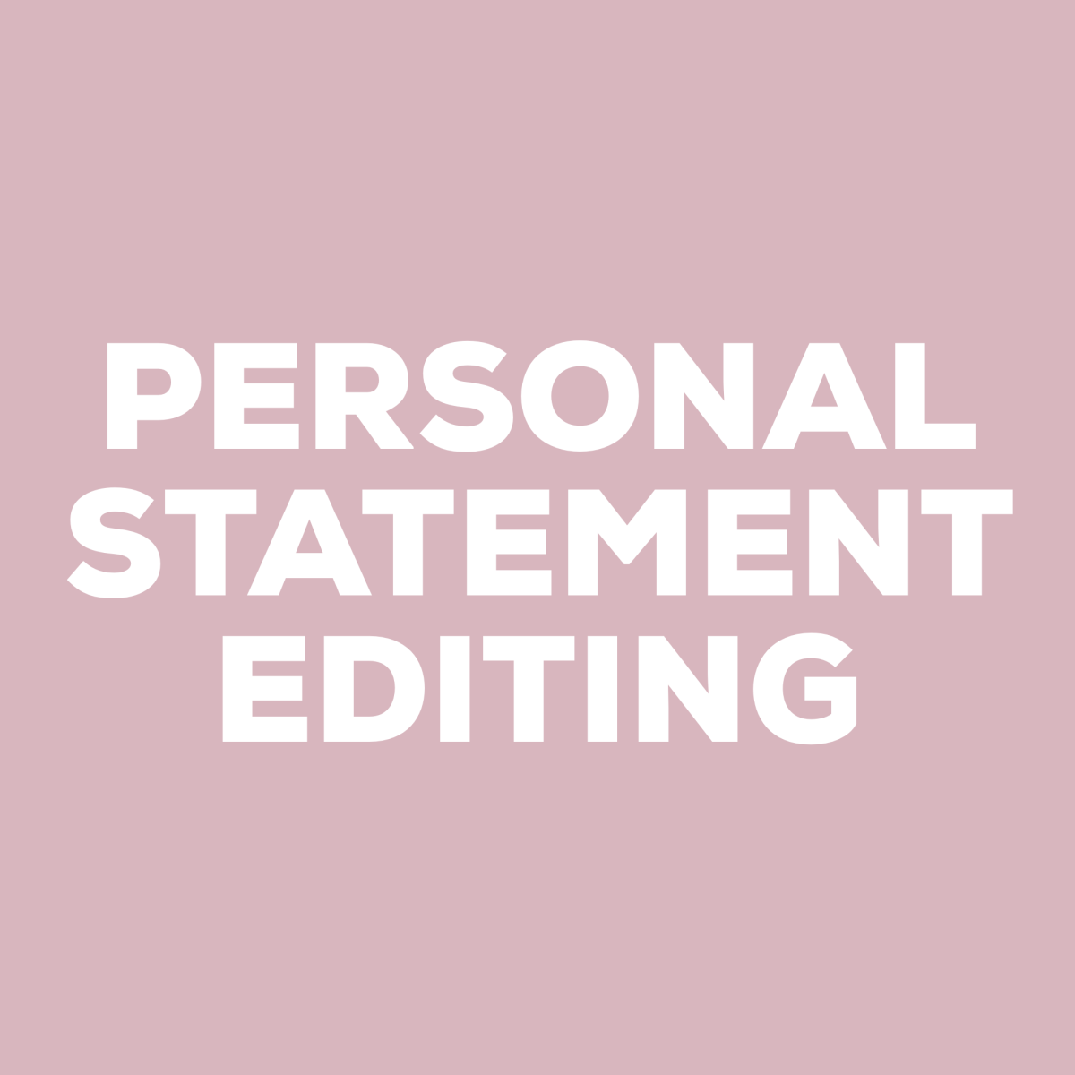 Editing a personal statement