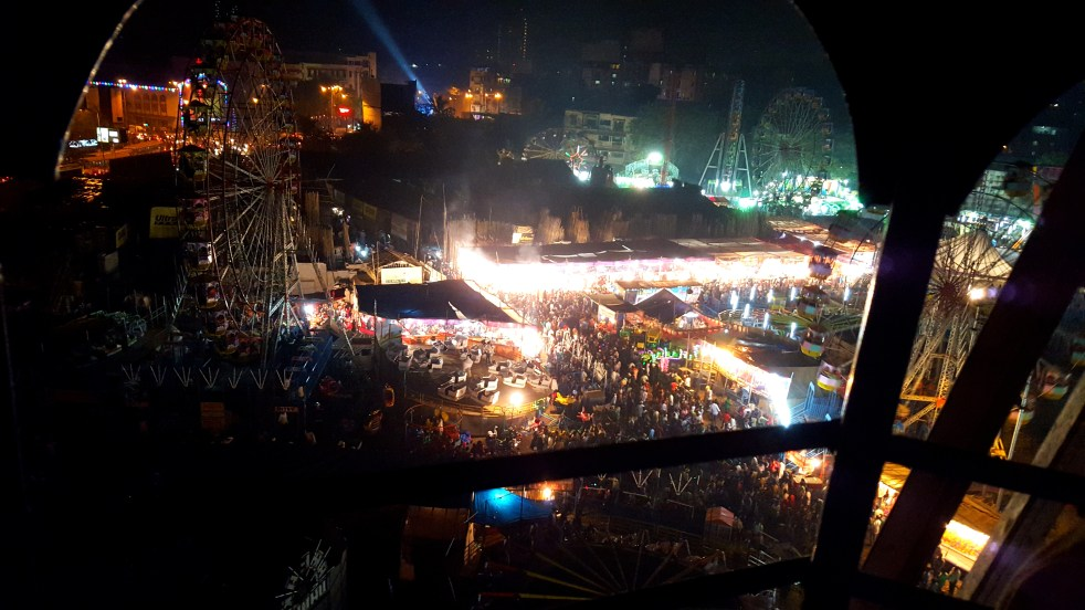 A bird's eye view of the Urs festival, Mahim, Mumbai
