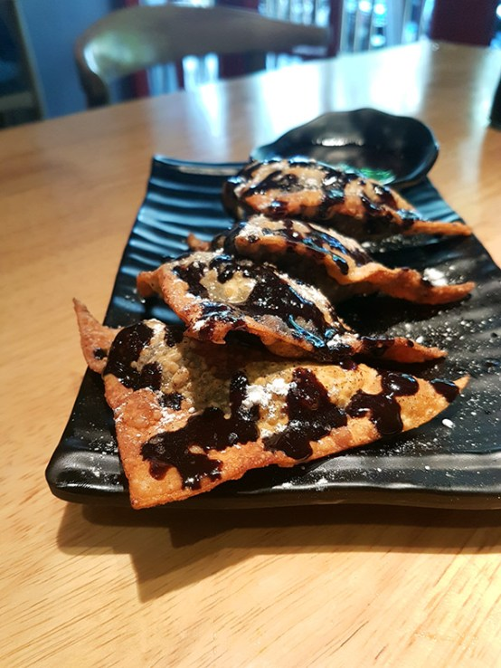 Chocolate wontons, Kuai Kitchen, Colaba