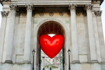 A Chubby Heart at Wellington Arch, on Hyde Park Corner, London