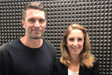 Tim Brown of Allbirds with Rachel Arthur