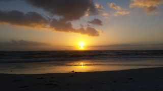 Sunset at beach on Longboat Key Florida
