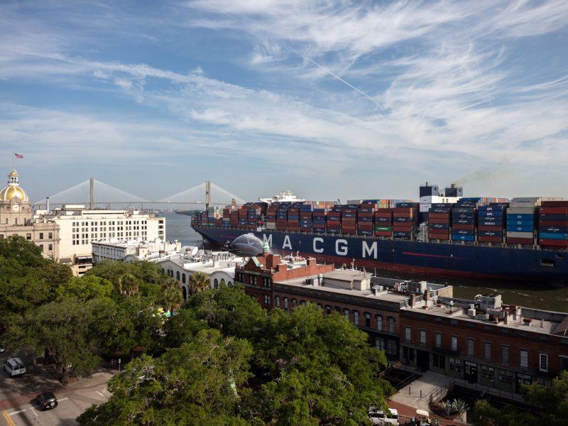 Marco Polo arrives in Savannah