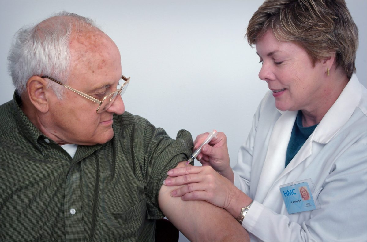 vaccination man