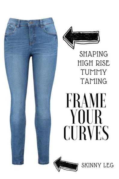 Skinny leg shaping jeans