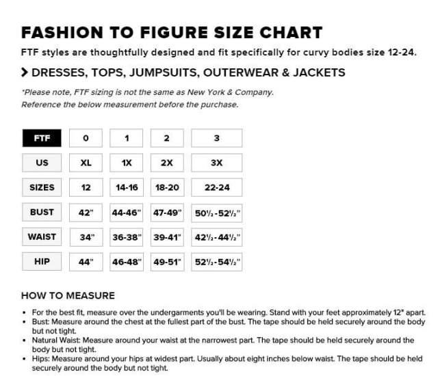 Fashion to Figure SIze Chart