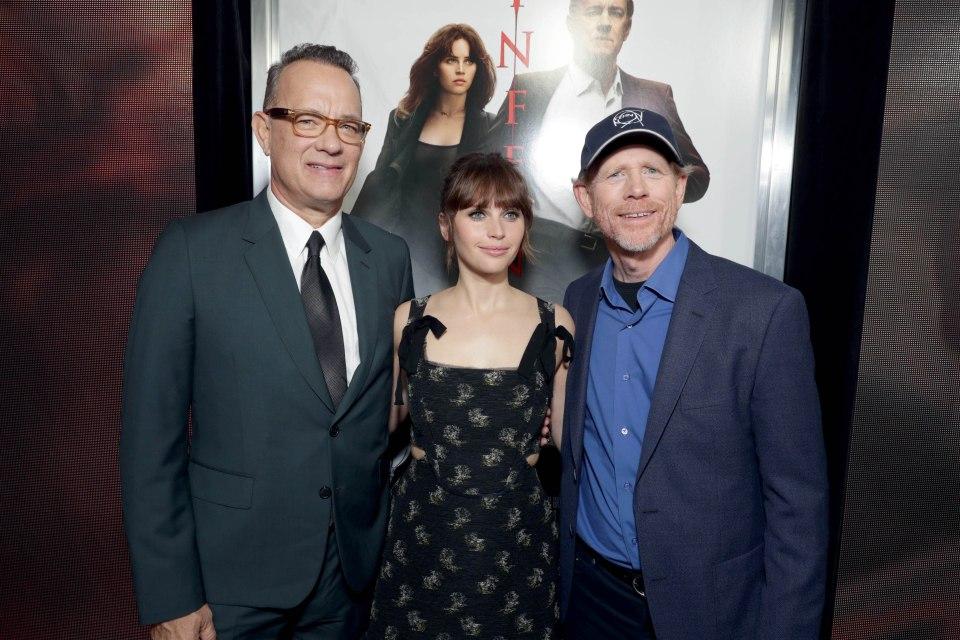 Tom Hanks, Felicity Jones, Ron Howard