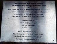 Romsey War Memorial Park - Field Gun Plaque