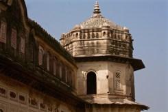Closeup view, Bastion, Laxmi Narayan Temple, Orchha, Madhya Pradesh