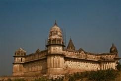View of one of the projecting bastions of the Laxmi Narayan Temple, Orchha, Madhya Pradesh