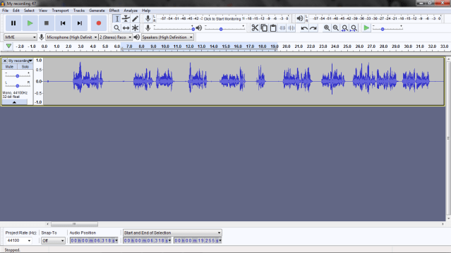 audacity tutorial audio editing