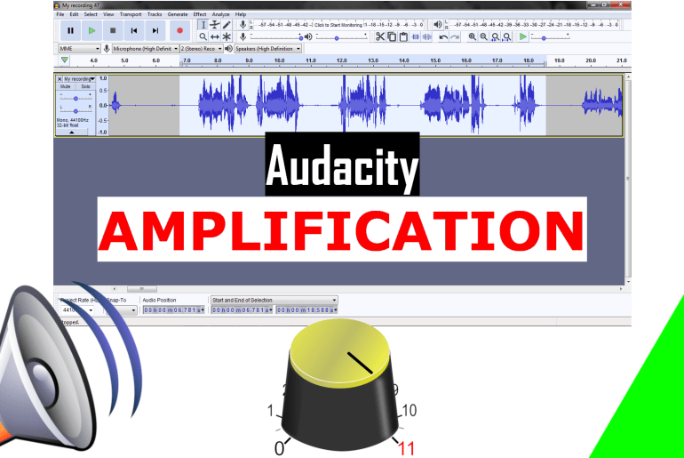 Amplify an Audio in Audacity. audacity tutorial. how to increase volume - Audio Editing free editor software.