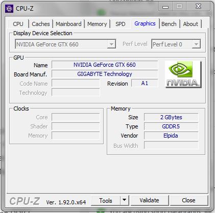CPU-Z (CPUZ CPU Z CPU ID CPUID) - Graphics Card info GPU Card Details