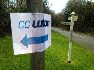 Luckily the Luton CC sign was still there
