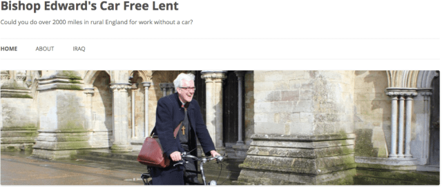 Bishop Edward's Car Free Lent Blog