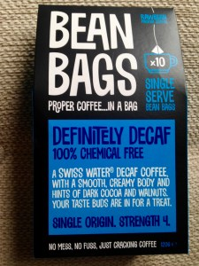 Bean Bags proper coffee in a bag