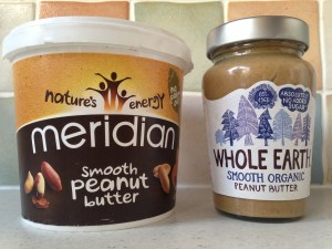 Meridian and Whole Earth peanut butter