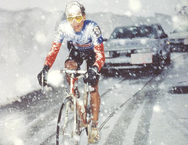 Andy Hampsten in the 1988 Giro