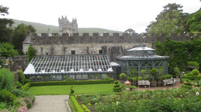 The conservatory of Glenveagh Castle inside the walled garden