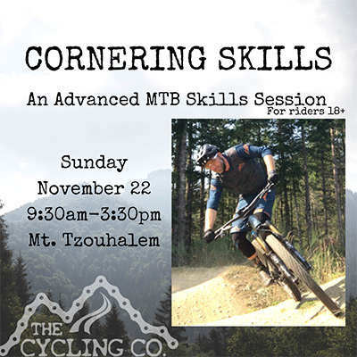 Cornering Mountain Bike Skills - November 22