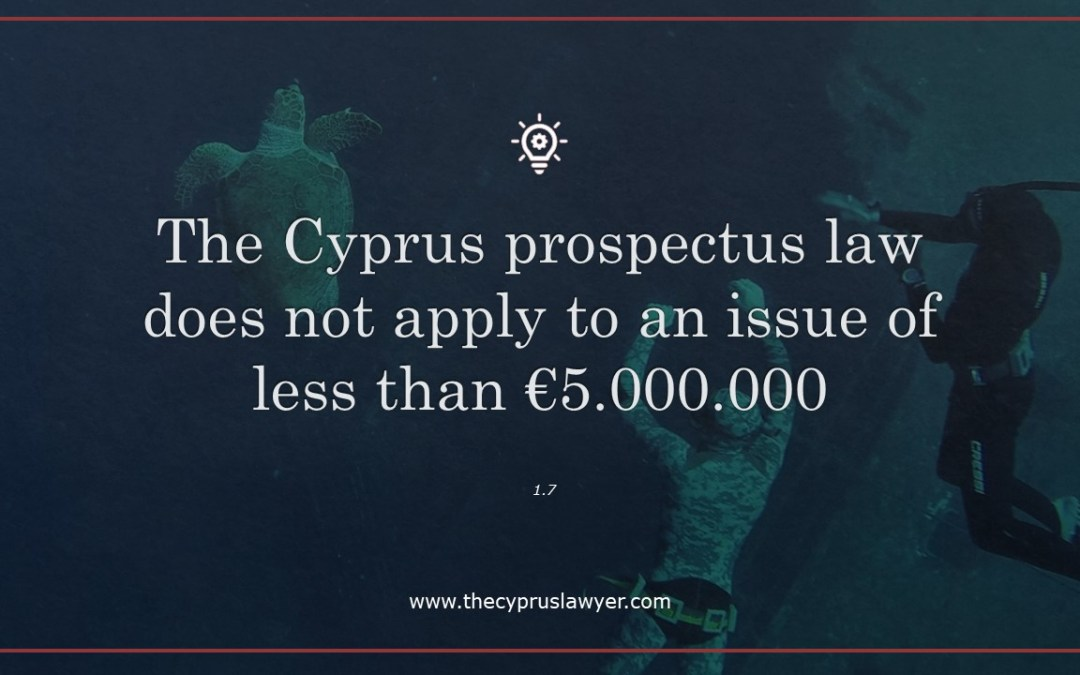 Cyprus Prospectus Law – Practical Tip 1.7