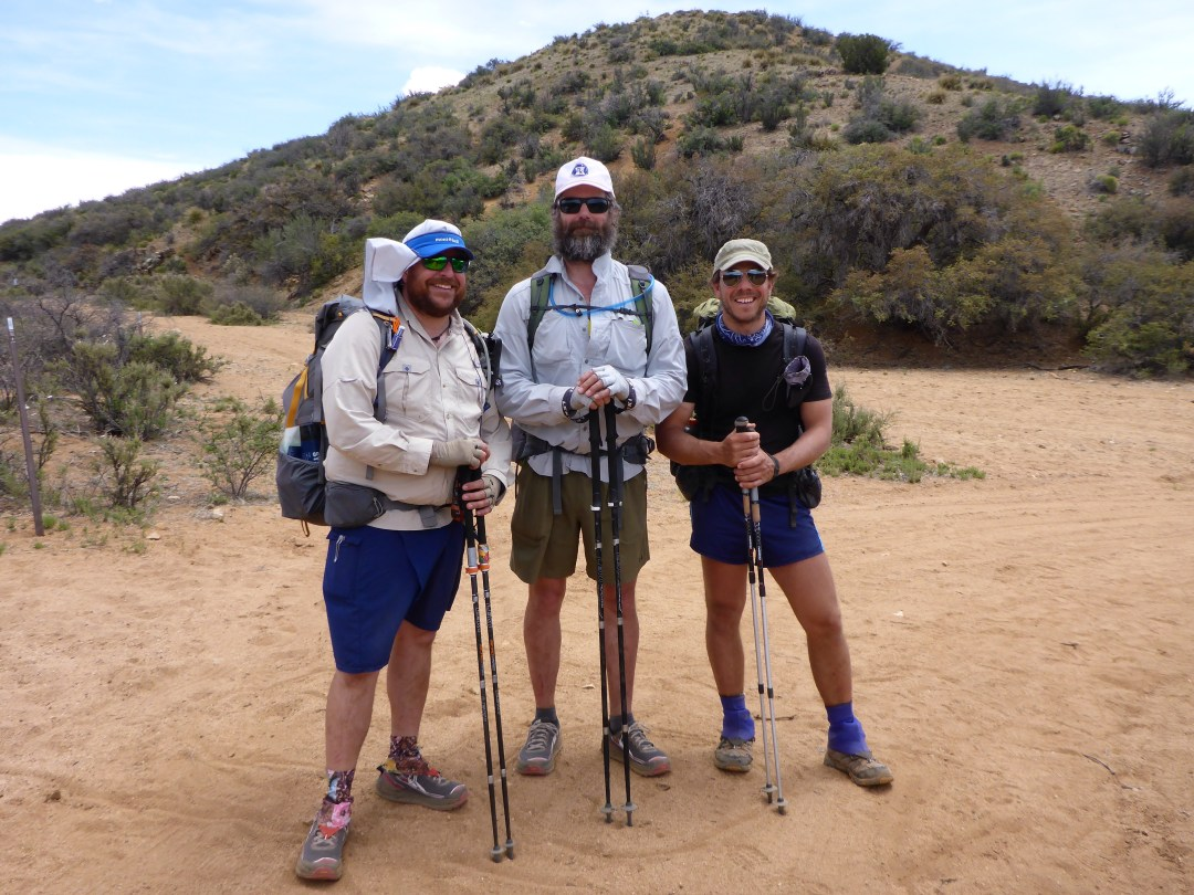 100-mile mark, from left to right Allgood, Sweet Potato, and Buttercup